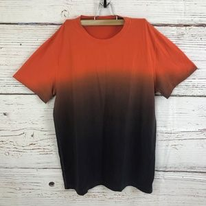 Lululemon Size Large Ombre Orange Short Sleeve